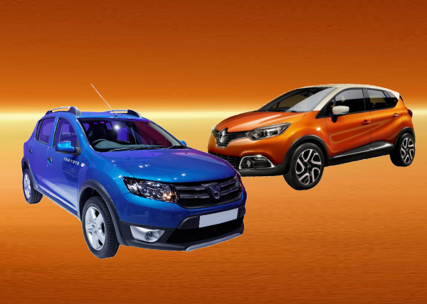 dacia sandero stepway vs renault captur. Black Bedroom Furniture Sets. Home Design Ideas