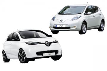 Renault Zoe vs Nissan Leaf: le due auto elettriche più vendute in Italia a confronto